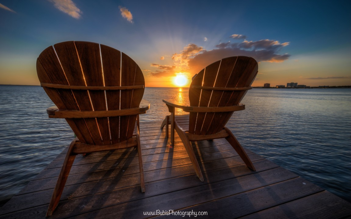 Front Row Sunset Seats by Dmitry Bubis
